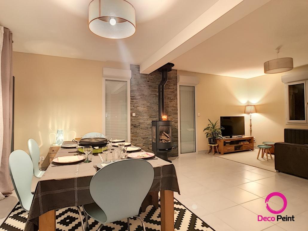 salon rénovée et décorée par Deco Peint à Donnery