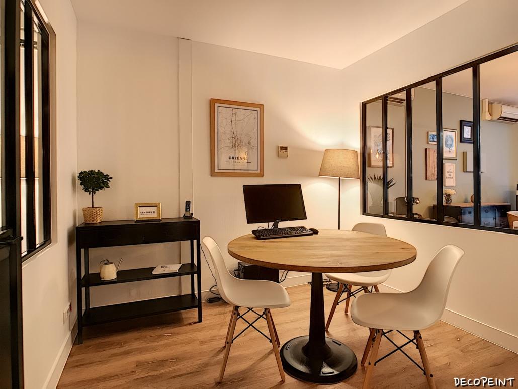 Nouvelle décoration bureau agence immobilière par Deco Peint