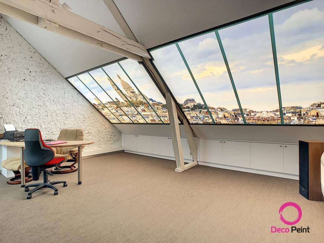 Bureau rénové par Deco Peint pour un particulier à Olivet