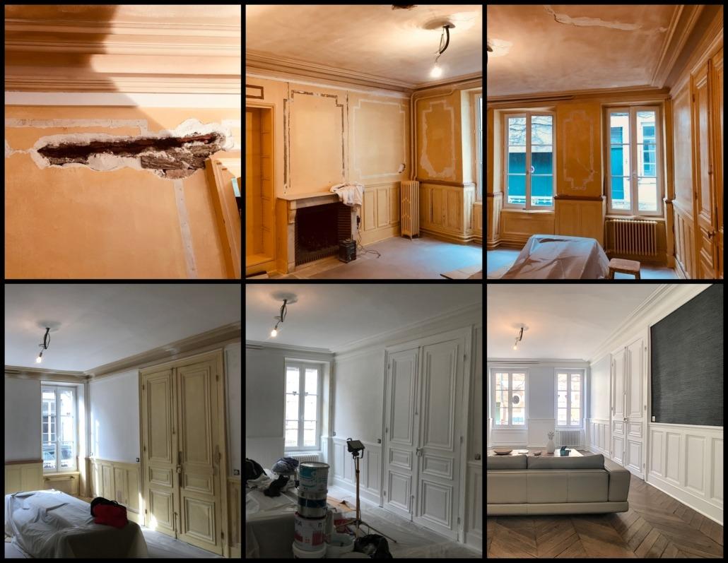 Photos avant après d'une maison rénovée par Deco Peint à Orléans