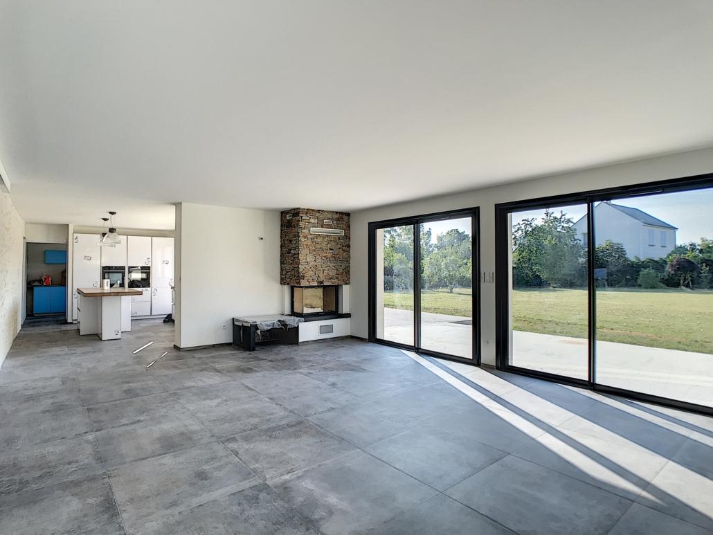 Séjour maison neuve peinture murs et plafonds Deco Peint