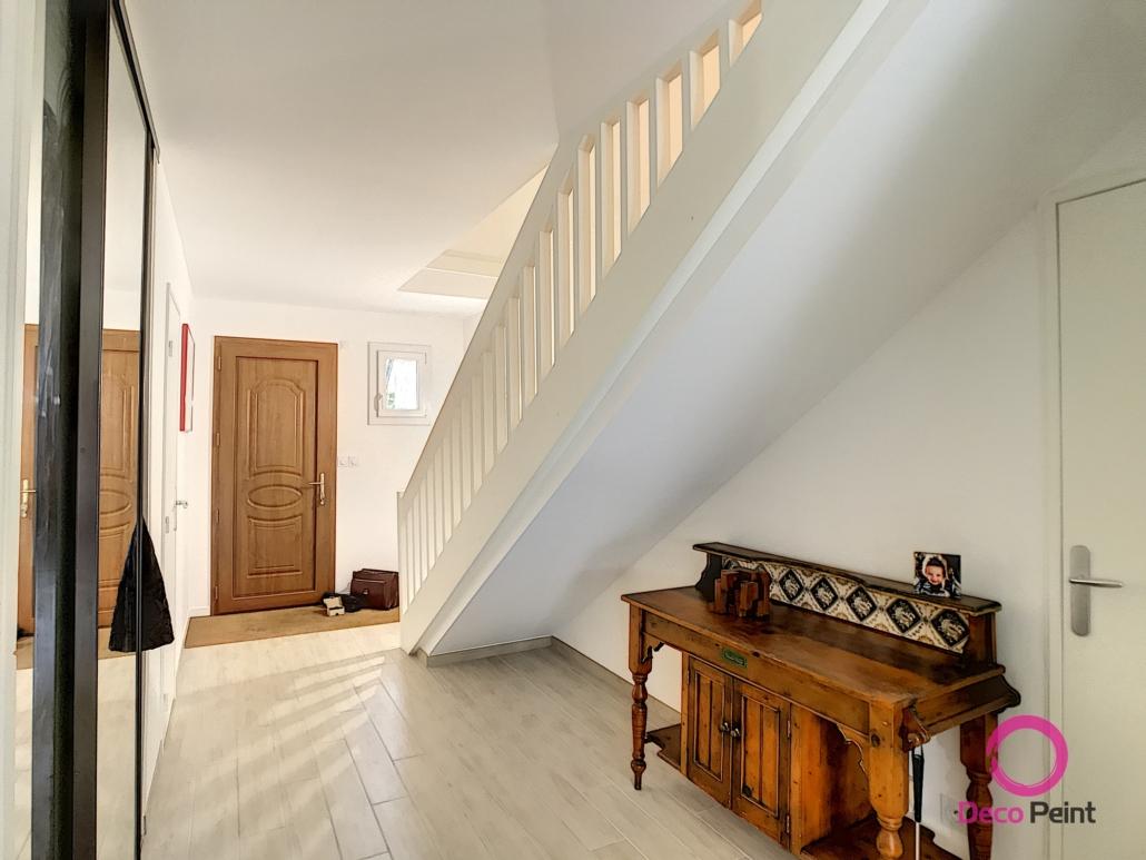 peintures murs et plafonds refaites dans une maison à Olivet